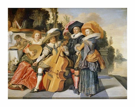 "Dirck Hals Fine Art Open Edition Giclée:""Elegant Figures Making Music"""