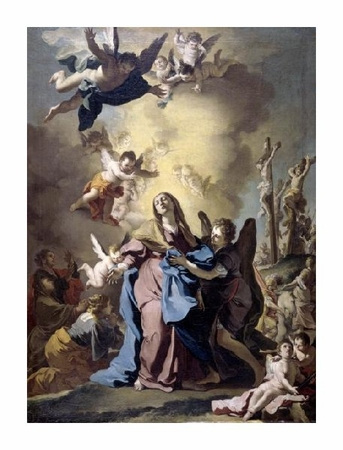 "Domenico Antonio Vaccaro Fine Art Open Edition Giclée:""The Virgin Swooning on Calvary"""