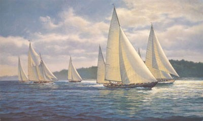 "Donald Demers Limited Edition Print:""Summer Cruise"""