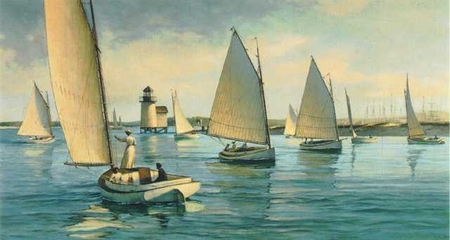 """Donald Demers Limited Edition Print:""""Nantucket Afternoon"""""""