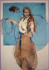 """Donna Howell-Sickles Hand Signed and Numbered Limited Edition Giclee :"""" Making a Name for Herself III """""""