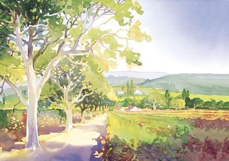 "Douglas Chun Signed and Numbered Limited Edition Giclée on Somerset Velvet Paper:""Valley Light I"""