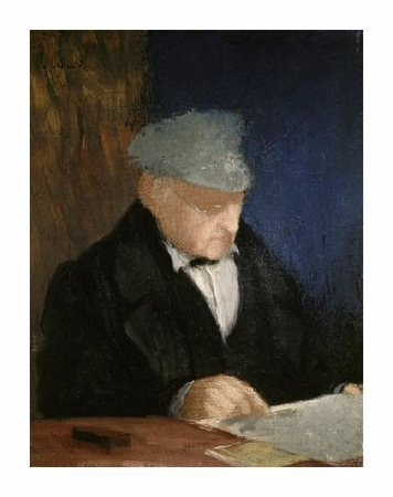 "Edgar Degas Fine Art Open Edition Giclée:""Auguste, the Artist's Father"""