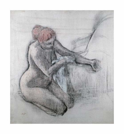 "Edgar Degas Fine Art Open Edition Giclée:""Nude Woman Drying Herself After the Bath (Large)"""