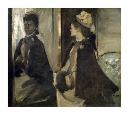 "Edgar Degas Fine Art Open Edition Giclée:""Portrait of Mrs. Jeantaud in the Mirror"""