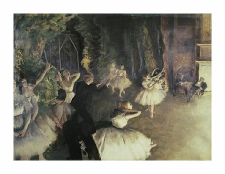 "Edgar Degas Fine Art Open Edition Giclée:""Rehearsal of the Ballet on Stage"""