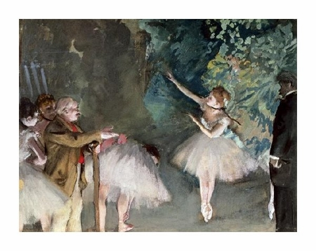 "Edgar Degas Fine Art Open Edition Giclée:""Repetition de Ballet"""