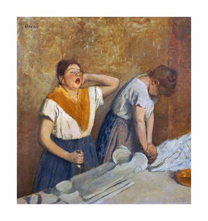 "Edgar Degas Fine Art Open Edition Giclée:""The Laundry Workers Ironing"""
