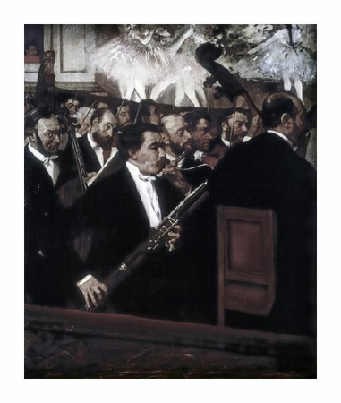 "Edgar Degas Fine Art Open Edition Giclée:""The Orchestra of the Opera"""
