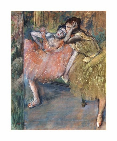 "Edgar Degas Fine Art Open Edition Giclée:""Two Dancers by a Hearth"""