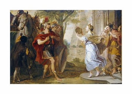 "Erasmus Quellinus Fine Art Open Edition Giclée:""Jephthah Greeted By His Daughter"""