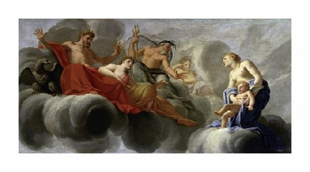 "Eustache Le Sueur Fine Art Open Edition Giclée:""Venus Presents Cupid to Jupiter"""