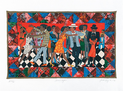 "Faith Ringgold Limited Edition Signed Serigraph Ed. 425:""Groovin' High"""