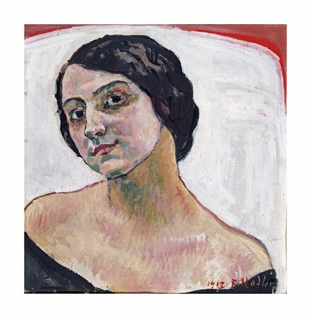 "Ferdinand Hodler Fine Art Open Edition Giclée:""Woman with Brown Hair"""