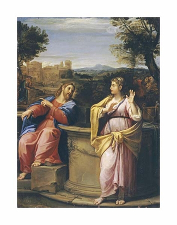 "Francesco Albani Fine Art Open Edition Giclée:""Christ and the Woman of Samaria at the Well"""