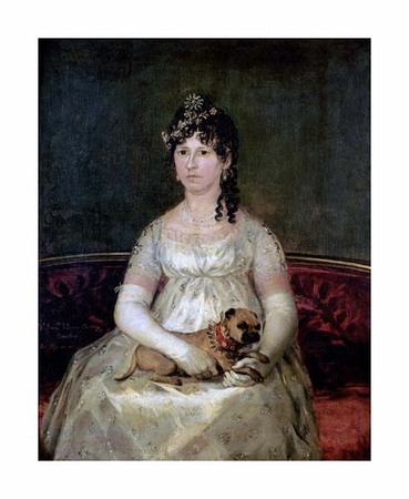 "Francisco De Goya Fine Art Open Edition Giclée:""Portrait of Dona Francisca Vicenta Chollet Y Caballero"""