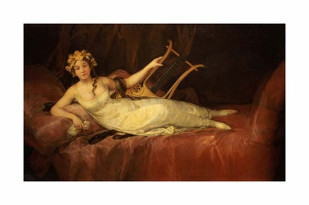 "Francisco De Goya Fine Art Open Edition Giclée:""Portrait of the 10th Marquesa de Santa Cruz as the Muse Euterpe"""