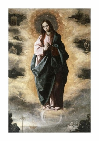 "Francisco De Zurbaran Fine Art Open Edition Giclée:""Immaculate Conception"""