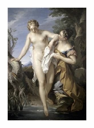 "Francois Le Moyne Fine Art Open Edition Giclée:""Bather and Her Attendant"""