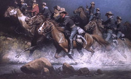 """Frank McCarthy Hand Signed and Numbered Limited Edition Print:""""With Pistols Drawn"""""""