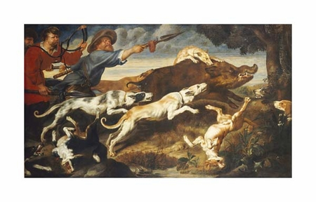 "Frans Snyders Fine Art Open Edition Giclée:""A Boar Hunt"""