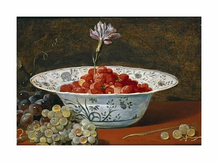 "Frans Snyders Fine Art Open Edition Giclée:""Strawberries with a Carnation"""
