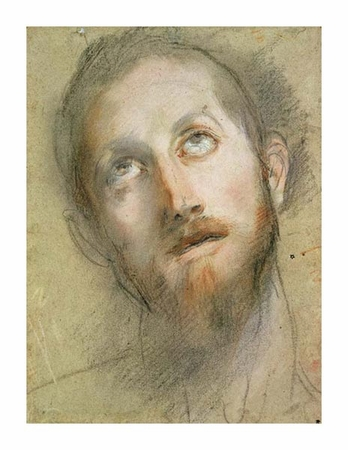 "Frederico Barocci Fine Art Open Edition Giclée:""Study for the Head of Christ"""