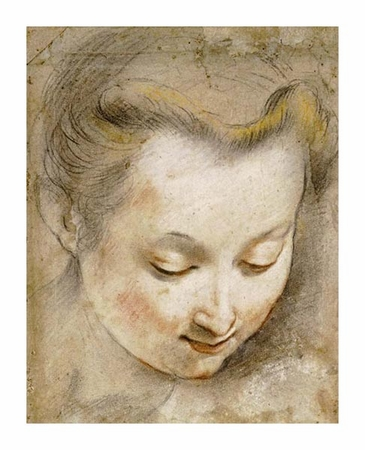 "Frederico Barocci Fine Art Open Edition Giclée:""The Head of a Woman"""