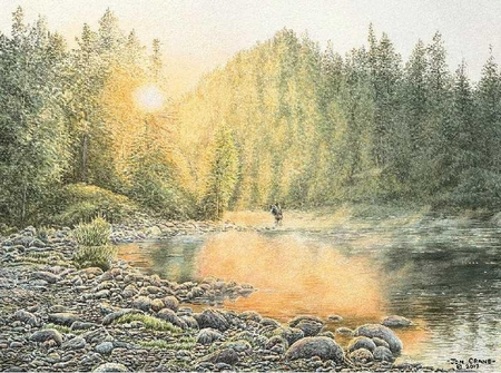 "Jon Crane Hand Signed and Numbered Artist Proof Giclee Print on Paper:""Catching the Light"""