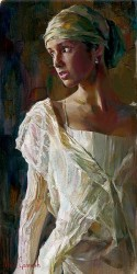 """Garmash, Michael & Inessa Handsigned and Numbered Limited Edition Giclee on Canvas:""""Gentle Light"""""""