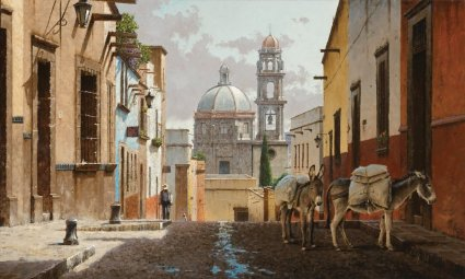 "George Hallmark Handsigned and Numbered Limited Edition:""Buenos Dias San Miguel"""