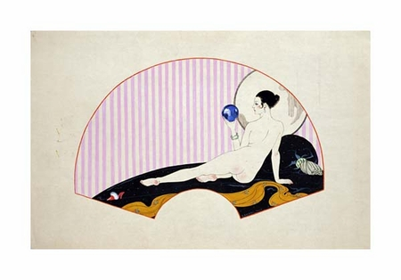"""Georges Barbier Fine Art Open Edition Giclée:""""Odalisque with a Crystal Ball"""""""