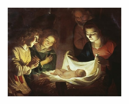 "Gerrit Van Honthorst Fine Art Open Edition Giclée:""The Adoration"""