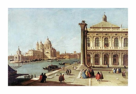 "Giovanni Antonio Canal Fine Art Open Edition Giclée:""Entrance to Grand Canal, Venice"""