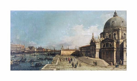 "Giovanni Antonio Canal Fine Art Open Edition Giclée:""The Entrance to the Grand Canal, Venice"""