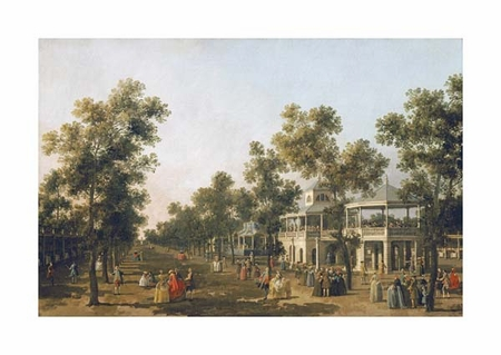 """Giovanni Antonio Canal Fine Art Open Edition Giclée:""""View of the Grand Walk, Vauxhall Gardens"""""""