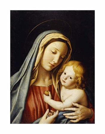 "Giovanni Battista Salvi Fine Art Open Edition Giclée:""The Madonna and Child"""