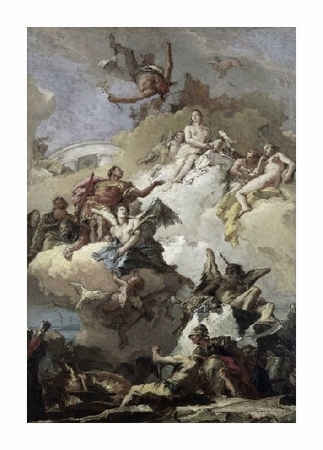"Giovanni Battista Tiepolo Fine Art Open Edition Giclée:""Apotheosis of Aeneas"""