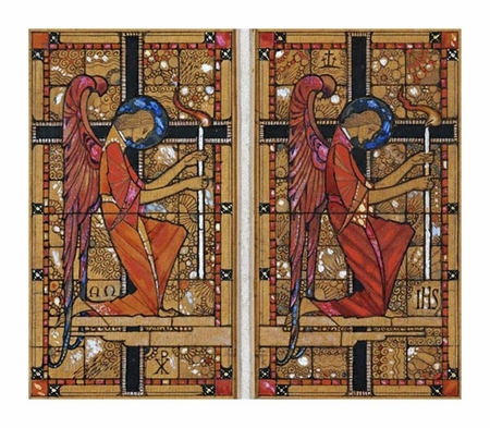 """Harry Clarke Fine Art Open Edition Giclée:""""Two Angels: a Design for Stained Glass"""""""