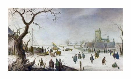 "Hendrick Avercamp Fine Art Open Edition Giclée:""Winter Pleasure"""
