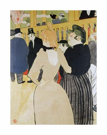"""Henri Toulouse-Lautrec Fine Art Open Edition Giclée:""""At the Moulin Rouge. La Gouloue and Her Sister"""""""