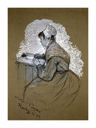 "Henri Toulouse-Lautrec Fine Art Open Edition Giclée:""The Authoress of St. Lazare"""