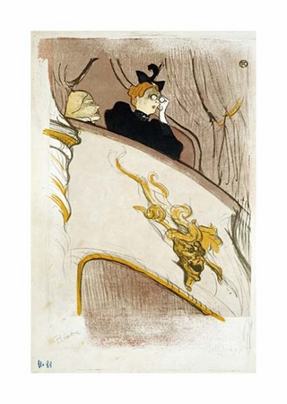 "Henri Toulouse-Lautrec Fine Art Open Edition Giclée:""The Box at the Mascaron Dore"""
