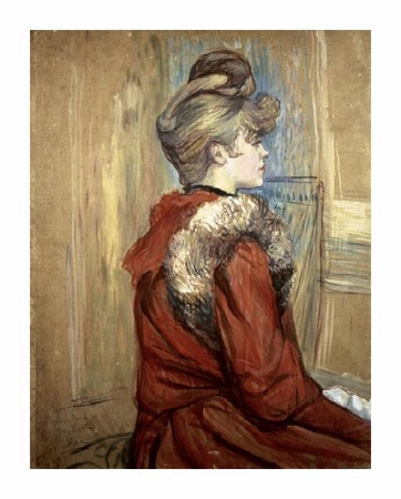 "Henri Toulouse-Lautrec Fine Art Open Edition Giclée:""Young Woman with her Fur, Mademoiselle Jeanne Fontaine"""