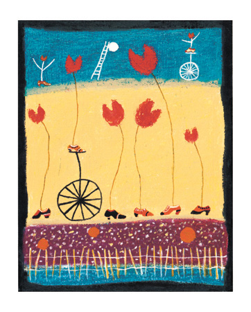 """Henry Sides Signed and Numbered Limited Edition Giclée on William Turner Paper:""""Tulip Shoes Cycles France I"""""""