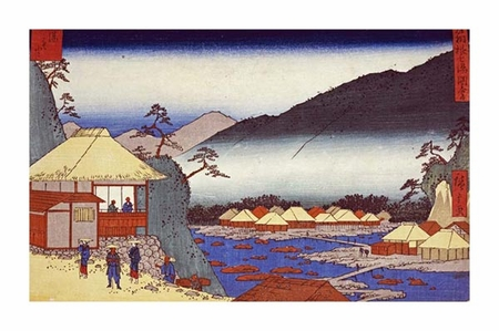 "Hiroshige Fine Art Open Edition Giclée:""Seven Hot Springs at Hakone"""