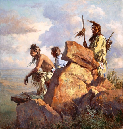 "Howard Terpning Hand Signed and Numbered Limited Edition Fine Art Giclee Print:""Among the Spirits of the Long-Ago People"""