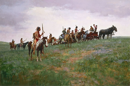 "Howard Terpning Hand Signed and Numbered Limited Edition Giclee Print on Paper:"" Whiskey Smugglers"""