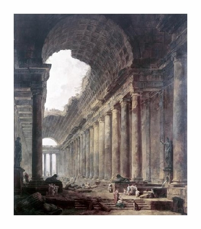 "Hubert Robert Fine Art Open Edition Giclée:""Fountains"""