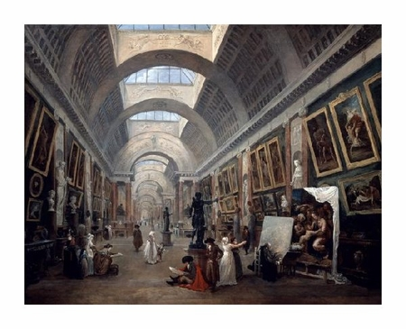 """Hubert Robert Fine Art Open Edition Giclée:""""Project for the Disposition of the Grand Gallery"""""""